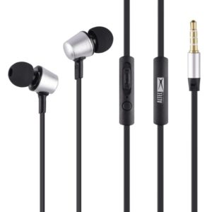 ALTEC LANSING earphones Eternity, mic, Button , 100dB, ασημί