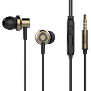TUDDROM Earphones R3 με μικρόφωνο, 10mm, 1.2m, χρυσά